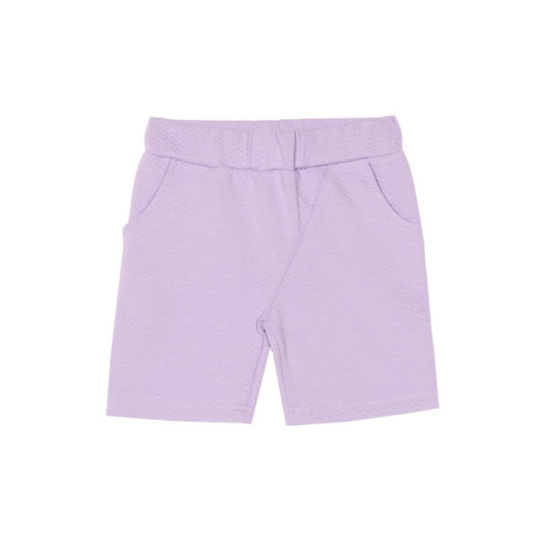 Kinder Shorts Harper, Moss Jacquard Lavender von Aarrekid