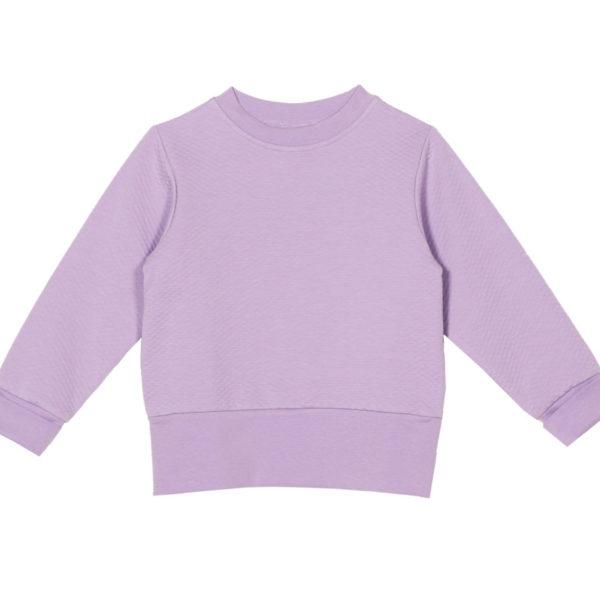 Sweatshirt Robin, Moss Jacquard Lavender aus Bio-Baumwolle von aarrekid