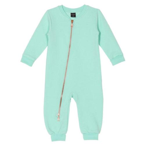 Baby Overall Arron, Moss Jacquard Mint aus Biobaumwolle von aarrekid