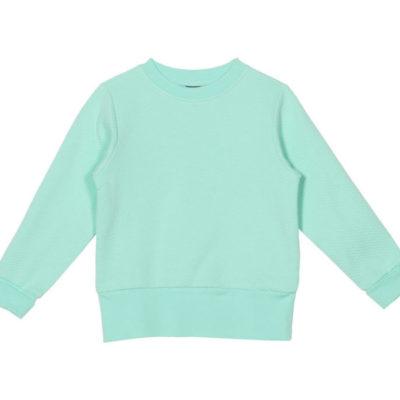 Sweatshirt Robin, Moss Jacquard Mint aus Bio-Baumwolle von aarrekid