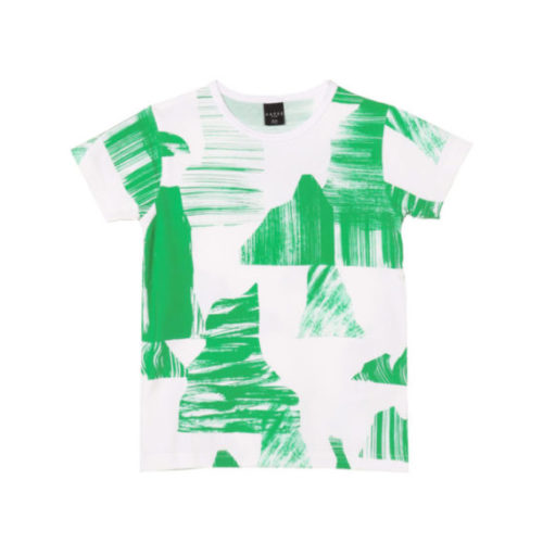 Kinder T-Shirt Green Mountains aus Bio-Baumwolle von aarrekid