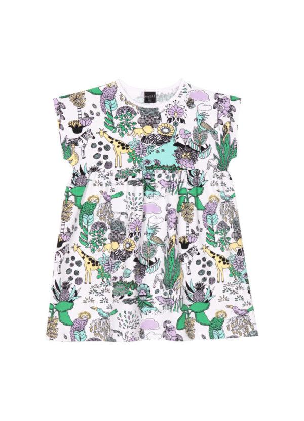 Kinderkleid Mia, Rainforest, aus Biobaumwolle von Aarrekid