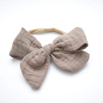 Musselin Haarband in der Farbe Sandbraun