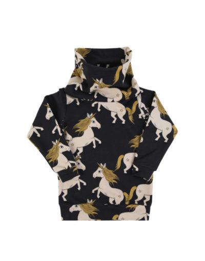 Tube sweatshirt black unicorn von dear sophie