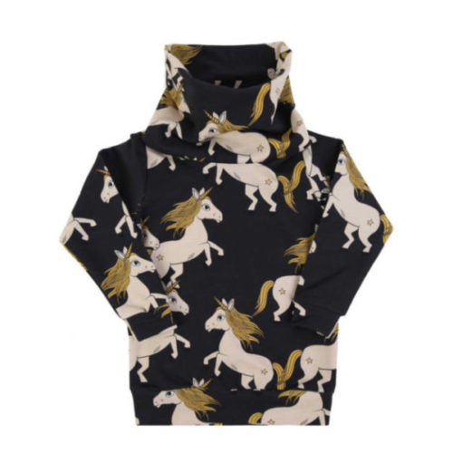 Tube sweatshirt black unicorn von dear sophie