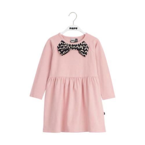 Kleid Bow Collar Powder Peach, aus Biobaumwolle