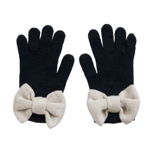 Handschuhe Bow Black