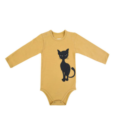 Langarmbody yellow cat von dear sophie