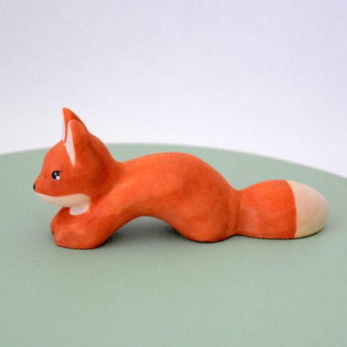 Holzfigur kleiner Fuchs