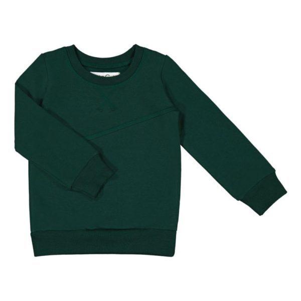 Ein Sweatshirt in dunkel grün von der finnischen Marke Gugguu