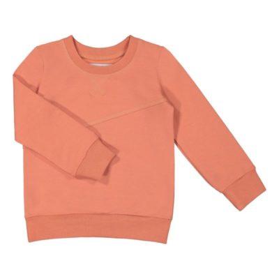 Ein Kinder Sweatshirt Mono in Rose Berry von der finniscen Marke gugguu