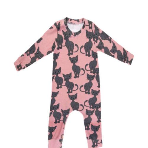 Baby strampler pink cat von dear sophie