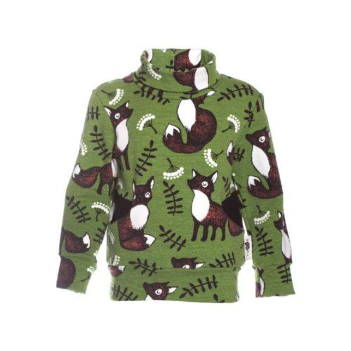 Ein grünes Sweatshirt mit einem Fuchs Print von der Marke Paapii