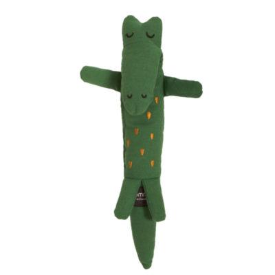 Ein Krokodil Plüschtier für Babys und Kleinkinder aus Biobaumwolle von Roommate